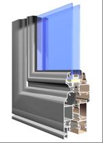 okno aluminiowe w systemie Luxus (LX)