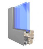 okno aluminiowe bez widocznego skrzydła Vision (VN)