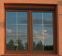 okna pcv w okleinie orzech
