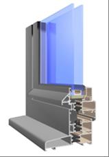 drzwi aluminiowe w systemie triline